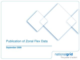 Publication of Zonal Flex Data