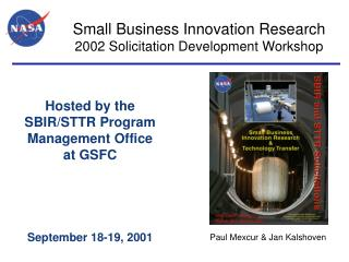 Small Business Innovation Research 2002 Solicitation Development Workshop