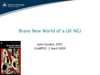 Brave New World of a UK NGI