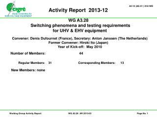 Activity Report  2013-12