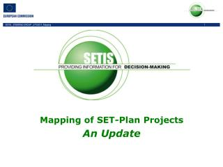Mapping of SET-Plan Projects An Update