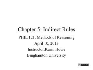 Chapter 5: Indirect Rules
