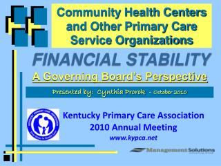 Community Health  Centers and Other Primary Care Service Organizations