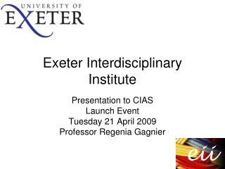 Exeter Interdisciplinary Institute