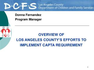 Donna Fernandez Program Manager
