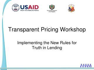 Transparent Pricing Workshop