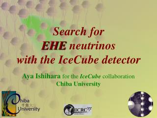 Search for  EHE  neutrinos with the IceCube detector