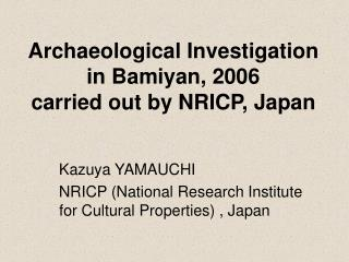 Archaeological Investigation in Bamiyan, 2006   carried out by NRICP, Japan