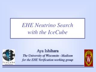 EHE Neutrino Search  with the IceCube