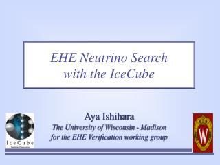 EHE Neutrino Search  with the IceCube