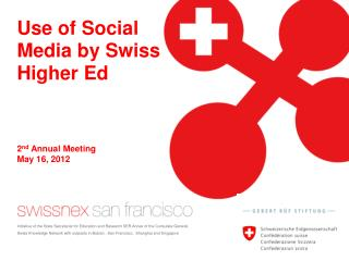 Use of Social Media by Swiss Higher Ed