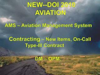 NEW--DOI 2010 AVIATION