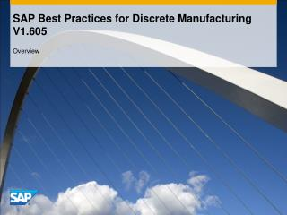 SAP Best Practices for Discrete Manufacturing  V1.605
