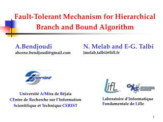 Fault-Tolerant Mechanism for Hierarchical Branch and Bound Algorithm
