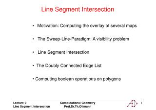 Line Segment Intersection