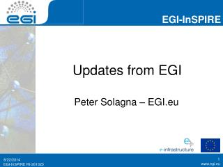 Updates from EGI