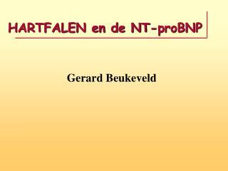 HARTFALEN en de NT-proBNP