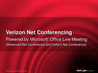 Verizon Net Conferencing