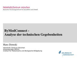 ByMedConnect - Analyse der technischen Gegebenheiten