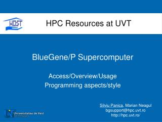 BlueGene/P Supercomputer