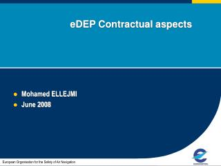 eDEP Contractual aspects