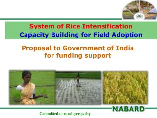 Proposal to Government of India for funding support