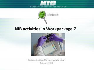NIB activities in Workpackage 7