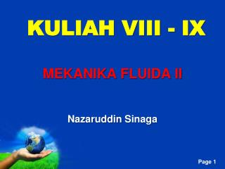 KULIAH VIII - IX