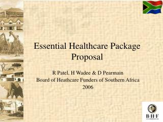 Essential Healthcare Package Proposal