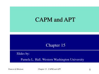 CAPM and APT