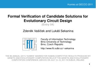 Formal Verification of Candidate Solutions for Evolutionary Circuit Design (Entry 04)