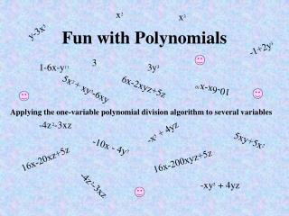 Fun with Polynomials
