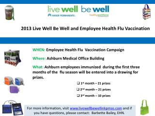 2013 Live Well Be Well and Employee Health Flu Vaccination