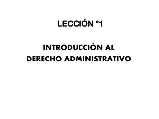 LECCIÓN °1