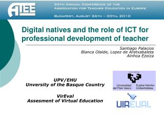 Digital natives and the role of ICT for professional development of teacher