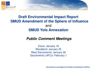 Draft Environmental Impact Report   SMUD Amendment of the Sphere of Influence and