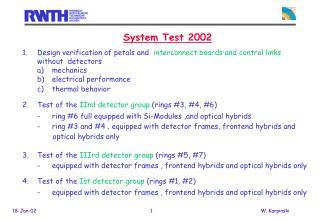 System Test 2002