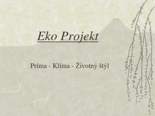 Eko Projekt