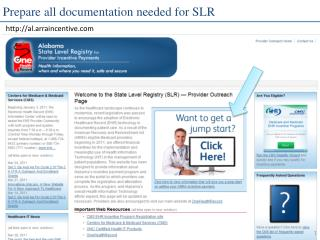 Prepare all documentation needed for SLR