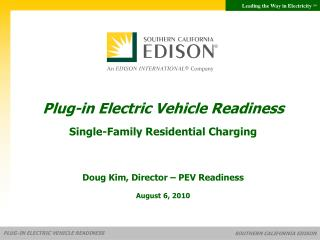 Plug-in Electric Vehicle Readiness Single-Family Residential Charging