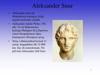 Aleksander Suur