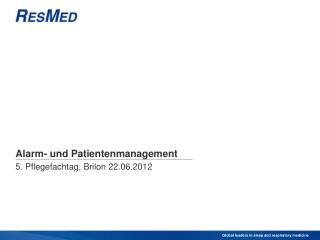 Alarm- und Patientenmanagement
