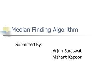 Median Finding Algorithm