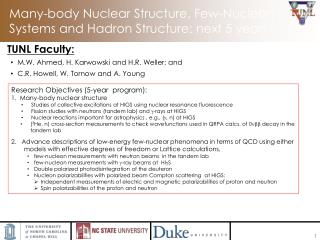 Many-body Nuclear Structure, Few-Nucleon Systems and Hadron Structure: next 5 years