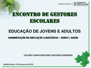 EDUCA��O DE JOVENS E ADULTOS