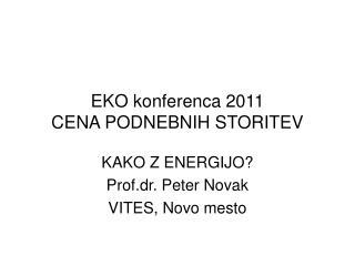 EKO konferenca 2011 CENA PODNEBNIH STORITEV