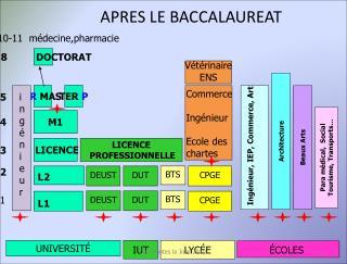 APRES LE BACCALAUREAT