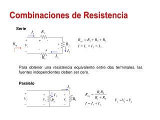 Combinaciones de Resistencia