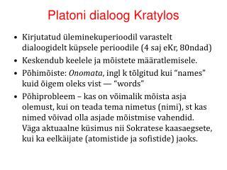 Platoni dialoog Kratylos