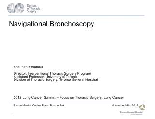 Navigational Bronchoscopy